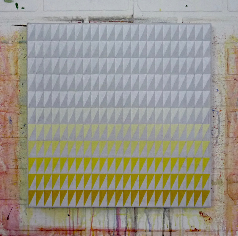 Acrylic painting October (Titanium White/Nickle Azo Yellow) by Graham Hall