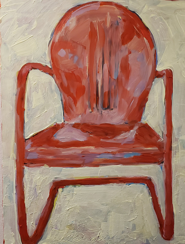 Hot Seat 9x12 oil  by Michael Gaudreau