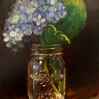 """Blue Hydrangea""  by Noah Verrier"