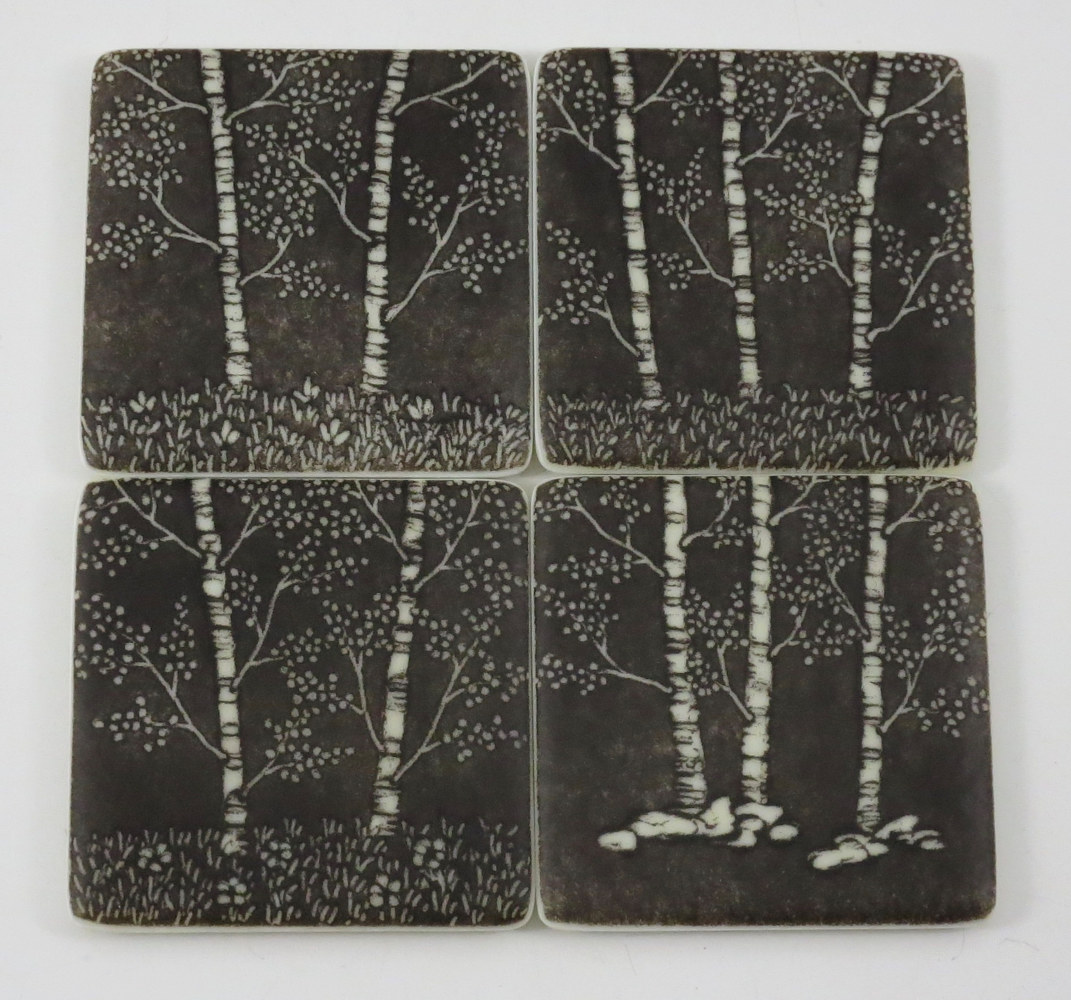 Aspen Coaster Set by Claudia Whitten