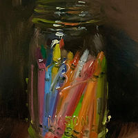 """Crayons in a Jar"" by Noah Verrier"