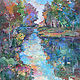 Acrylic painting River's Edge by Marty Husted