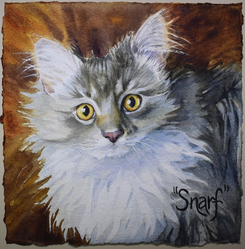 Watercolor Snarf by Lisa  Baechtle