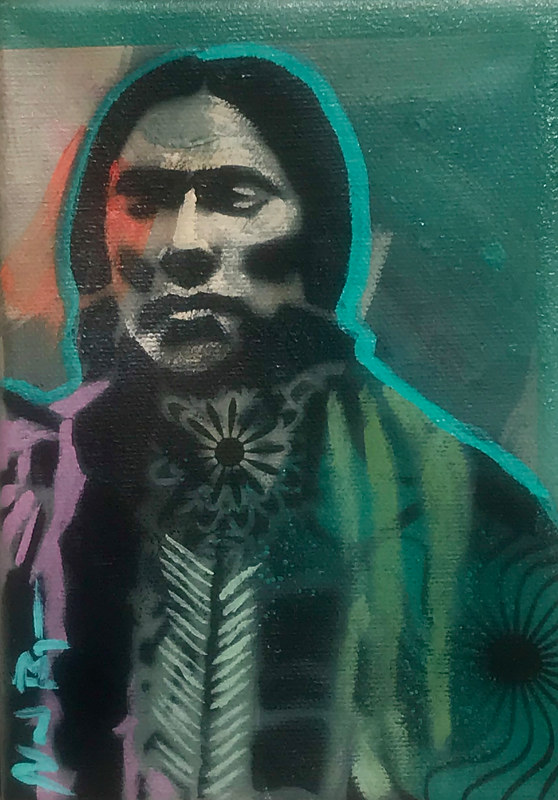 Quanah parker  orange/turquoise by Nocona Burgess