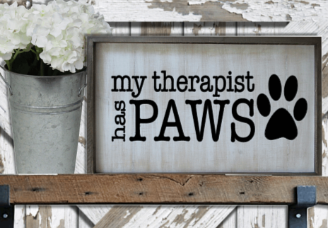 MY Therapist has Paws by Bev Robertson