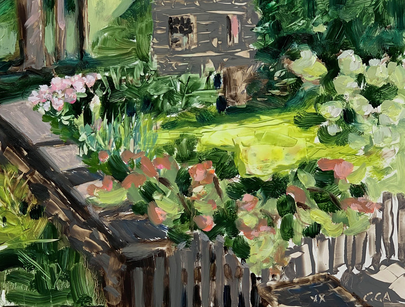 Oil painting Winston Court  by Ginger Arthur
