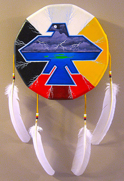 Acrylic painting Hand Drum Painting by Clayton King