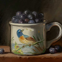 """Blueberries in Birds of Britain No.2"" by Noah Verrier"