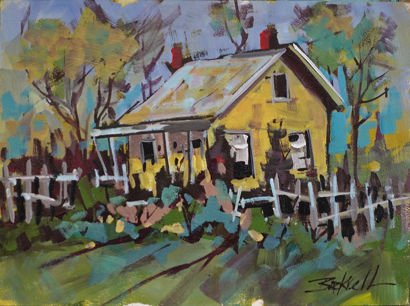 Yellow Cottage WW by Brian  Buckrell