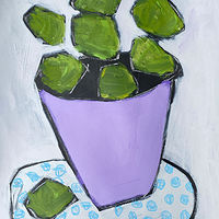 Limes in Purple Bowl by Sarah Trundle