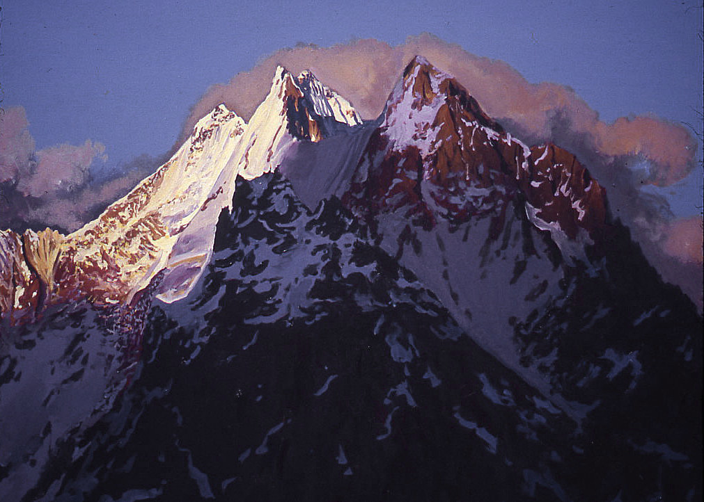 2002, Karakoram Gasherbrum 5, 22 x 28 in. by David  Maxim