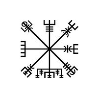 Drawing Vegvisir by Amarie Bergman
