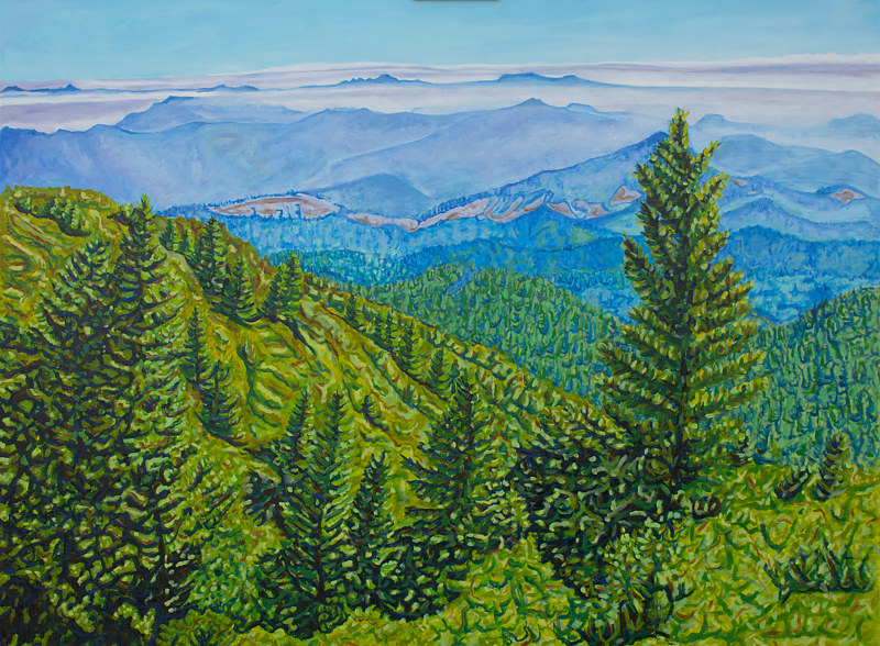Oil painting King Range by Crystal Dipietro