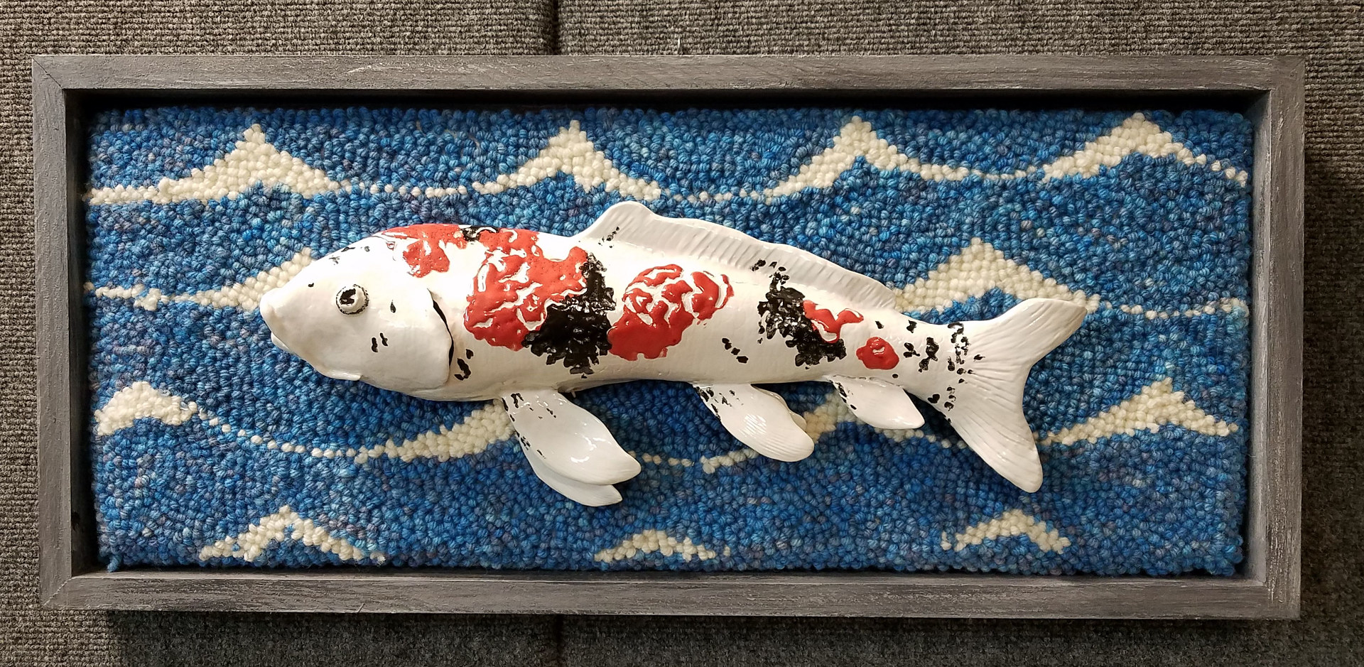 Mounted Koi by Valerie Johnson