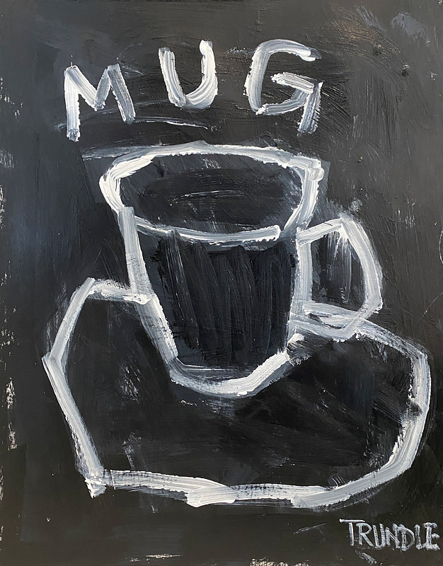 Acrylic painting Little Mug by Sarah Trundle