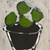 Acrylic painting Limes in Black Bowl by Sarah Trundle