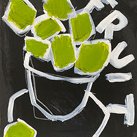 Acrylic painting Green Fruit by Sarah Trundle