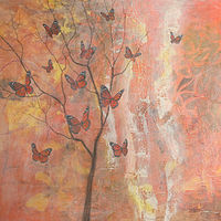 Acrylic painting Monarch Medley  by Louise Hall by Passionate Painters