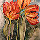 Painting Tulips by Linnie (Victoria) Aikens Lindsay