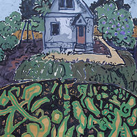 Acrylic painting House on East by Harry Stooshinoff