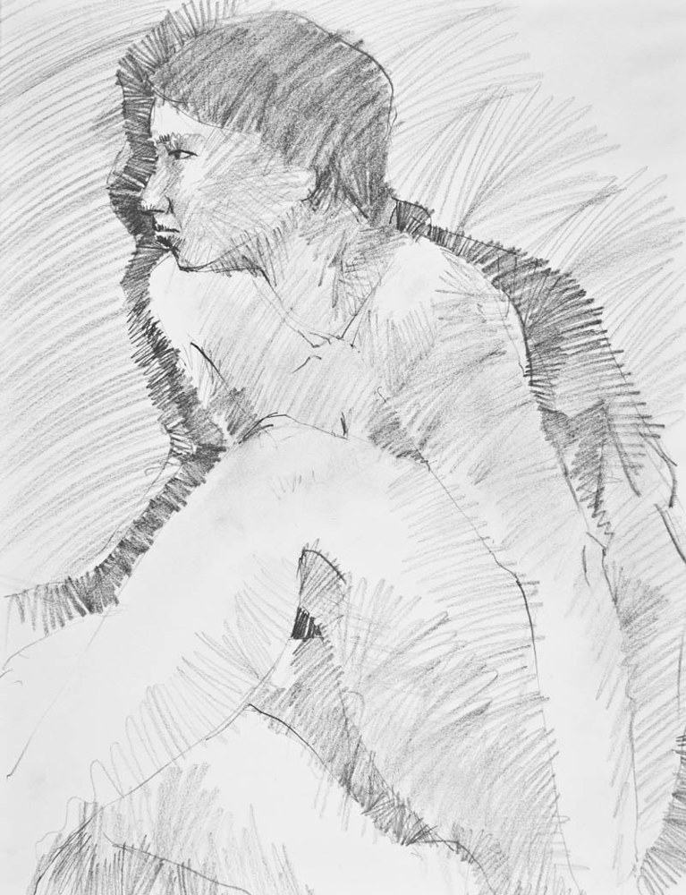 Seated-Figure-Study by Will Bushell