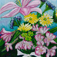 Oil painting Thank you Ann and Don by Michelle Marcotte