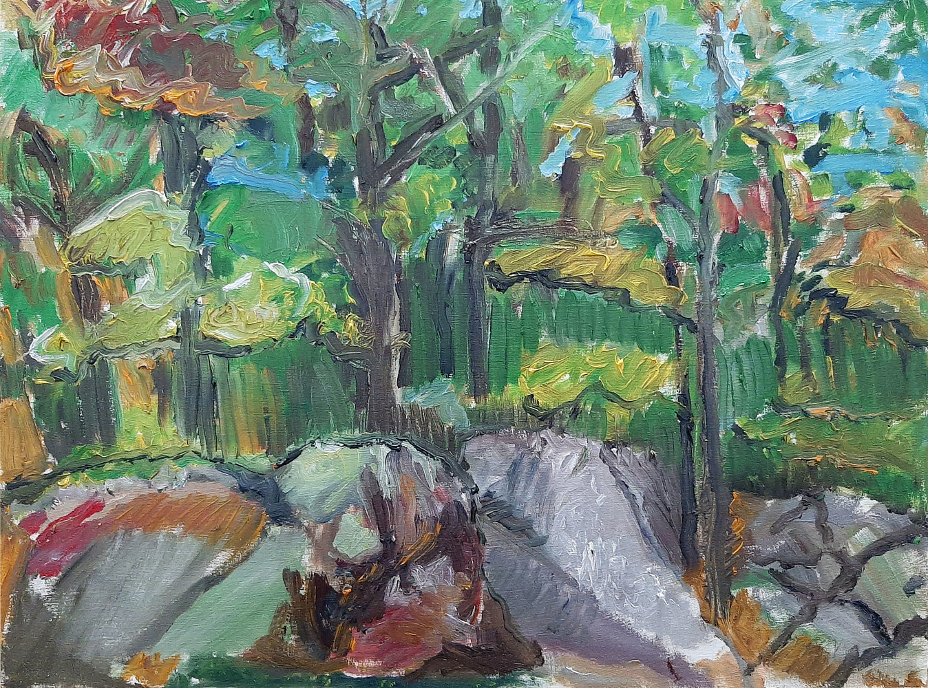 Oil painting Off Kawartha Lakes Road by Marc Brisson