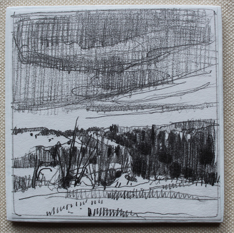 Drawing To Richardsons Hill  by Harry Stooshinoff