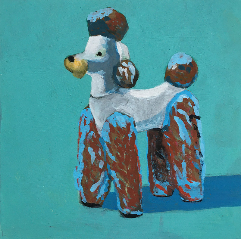 Acrylic painting Poodle by Kate Scoones