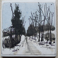 Drawing Forest Way, February 21  by Harry Stooshinoff