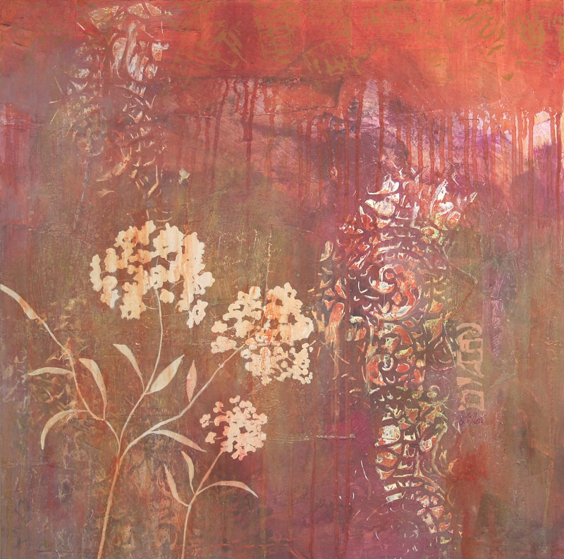 Acrylic painting   Remnants of Summer   by Louise Hall by Passionate Painters