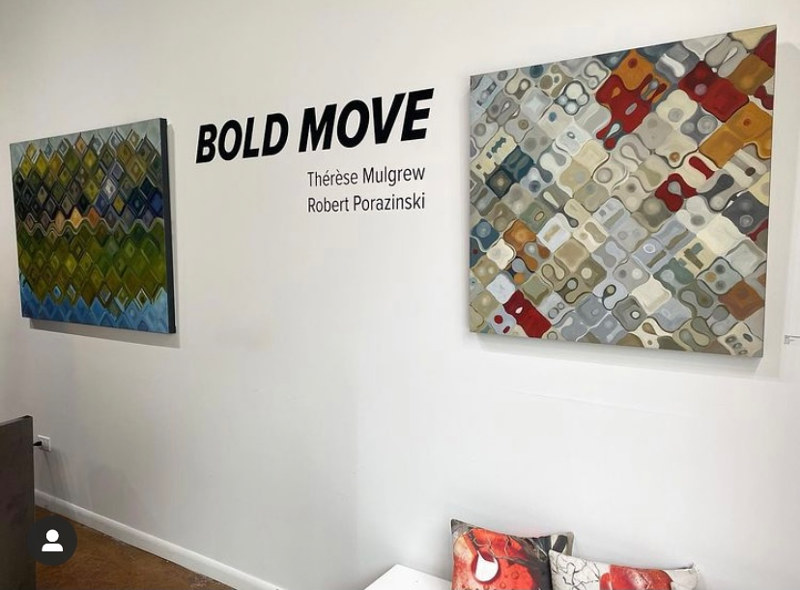 BOLD MOVE at Gallery Oh by Robert Porazinski