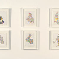 Installation view of Drawing to Mind, watercolor pencil on paper by Judy Southerland