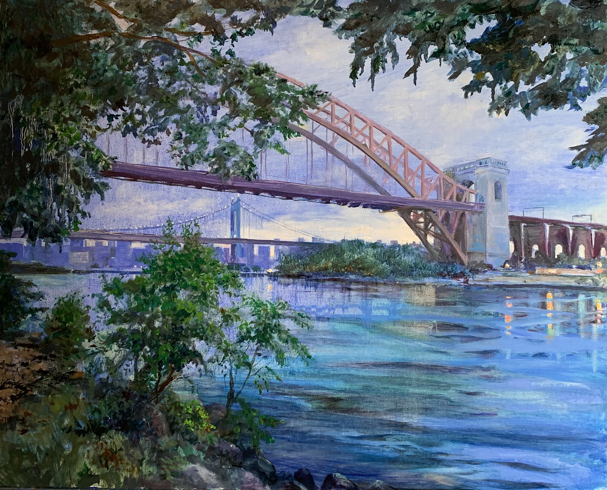 Print Hell Gate Bridge Paper print by Elizabeth4361 Medeiros