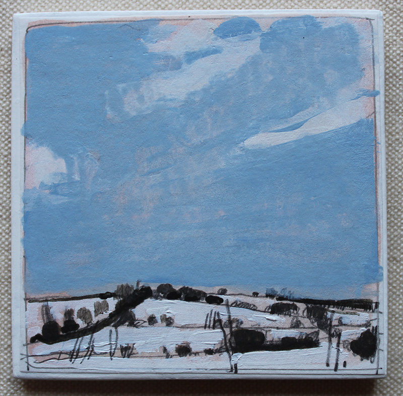 Acrylic painting North Fields, March 5  by Harry Stooshinoff