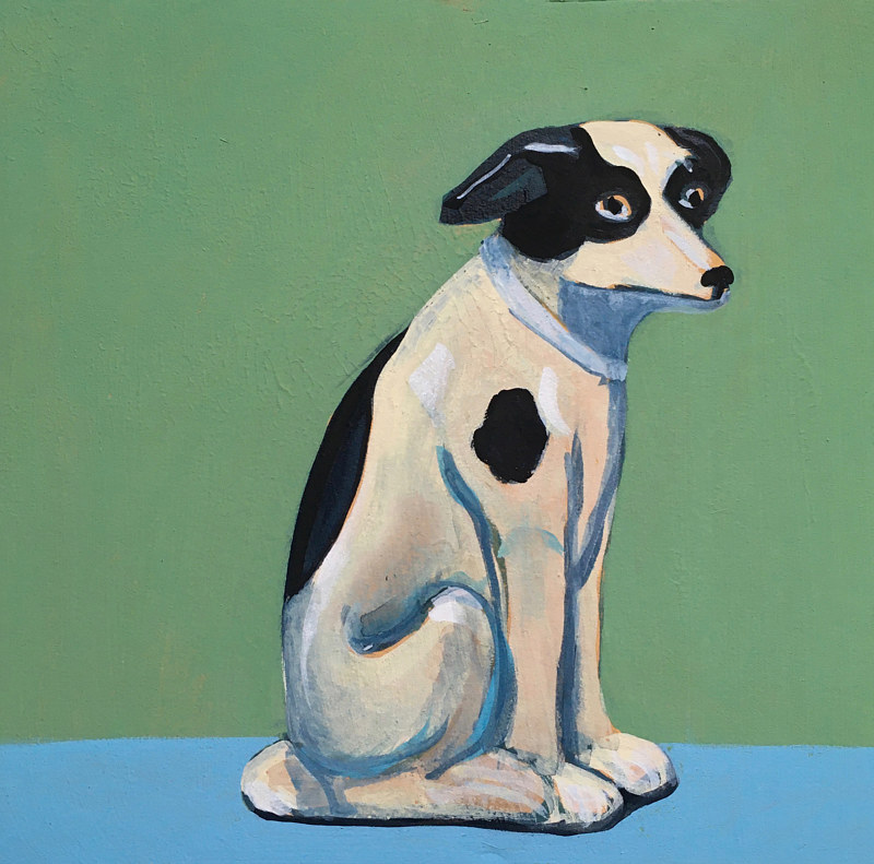 Acrylic painting Sparky by Kate Scoones