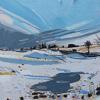 Acrylic painting Beginning, March Thaw by Harry Stooshinoff