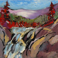 Painting Hiking Up North by Laurie Cochrane