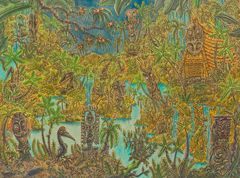 """The Abandoned Oasis"" 24 x 36"" by Kenneth M Ruzic"