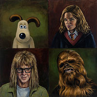 Oil painting SideKicks by Mary Hayes