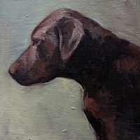 Oil painting Maggie by Mary Hayes