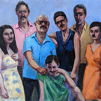 Oil painting Posse by Mary Hayes