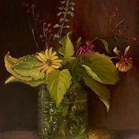 """Wildflowers in Vintage Glass""  by Noah Verrier"