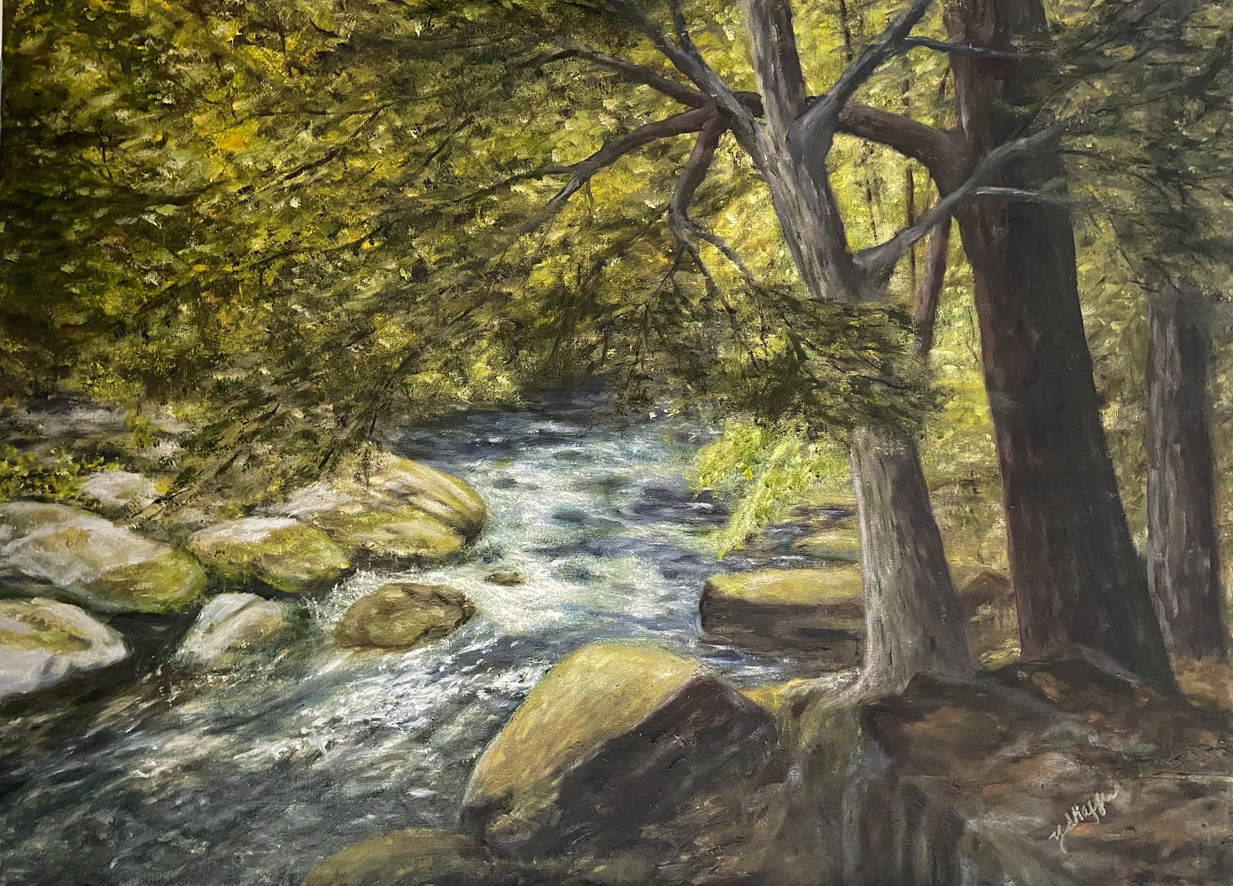 Oil painting Tranquil Place by Yvonne Shaffer