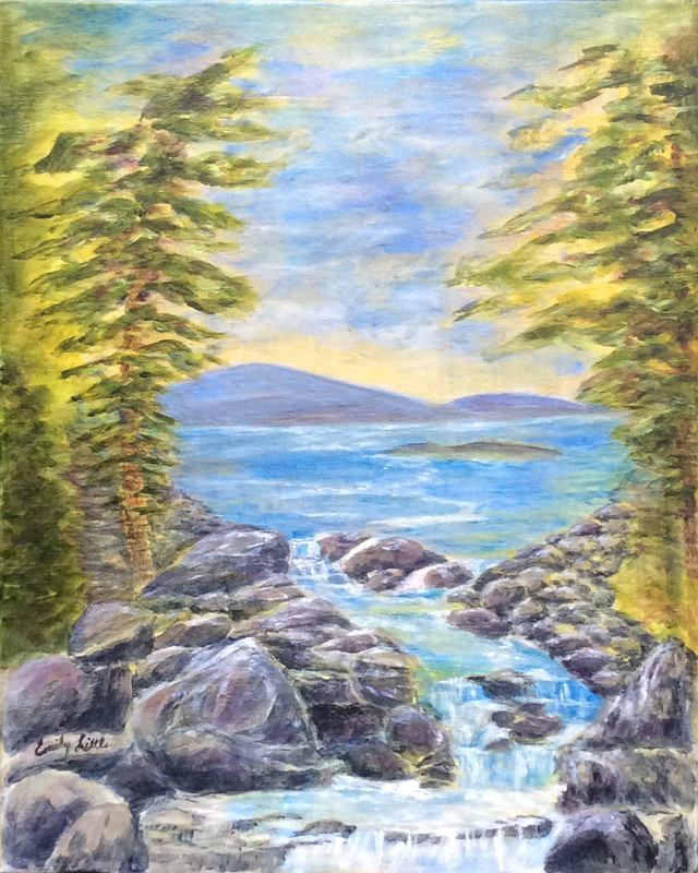 Acrylic painting Calming Waters by Emily Little by Passionate Painters