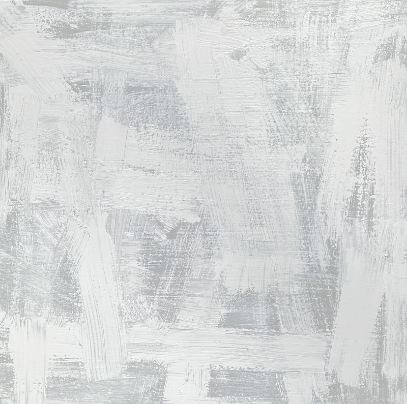 Acrylic painting Expressive: White on Grey by Sarah Trundle