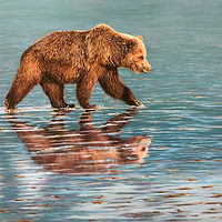 "Oil painting ""Grizzly"" by RE Swirsky by Passionate Painters"