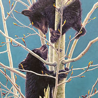 "Oil painting ""Bear Cubs"" by RE Swirsky by Passionate Painters"
