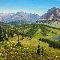 "Oil painting ""Healy Pass"" by RE Swirsky by Passionate Painters"
