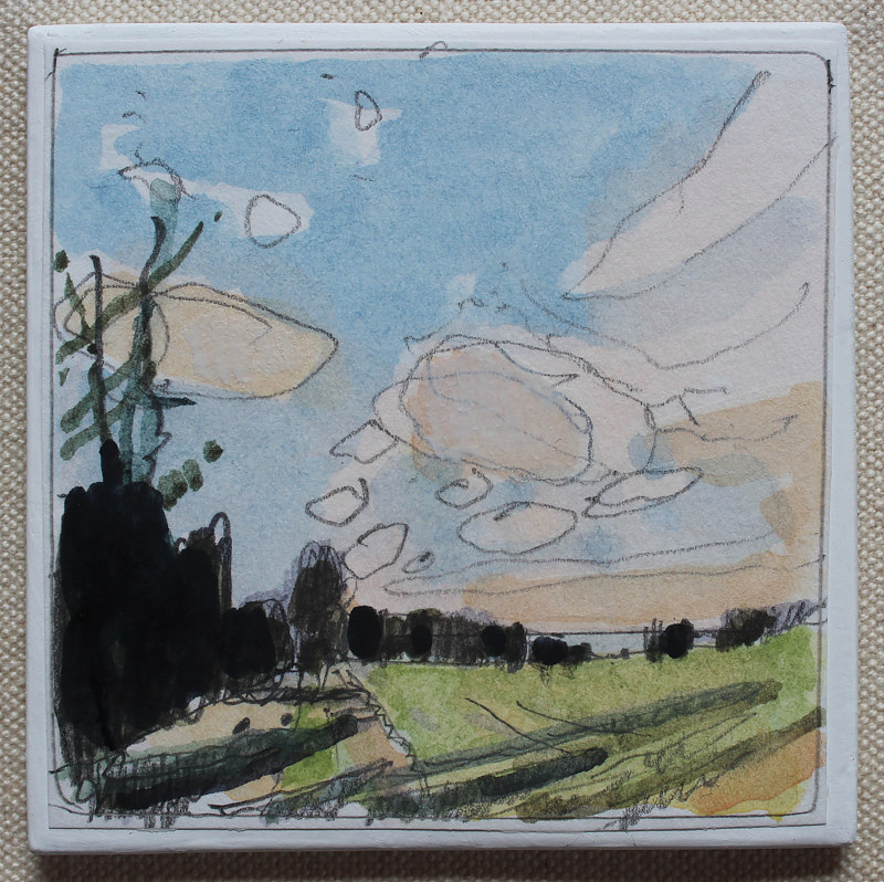 Painting Winter Wheat, April 2  by Harry Stooshinoff